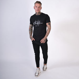 embrace couture mens longline tee