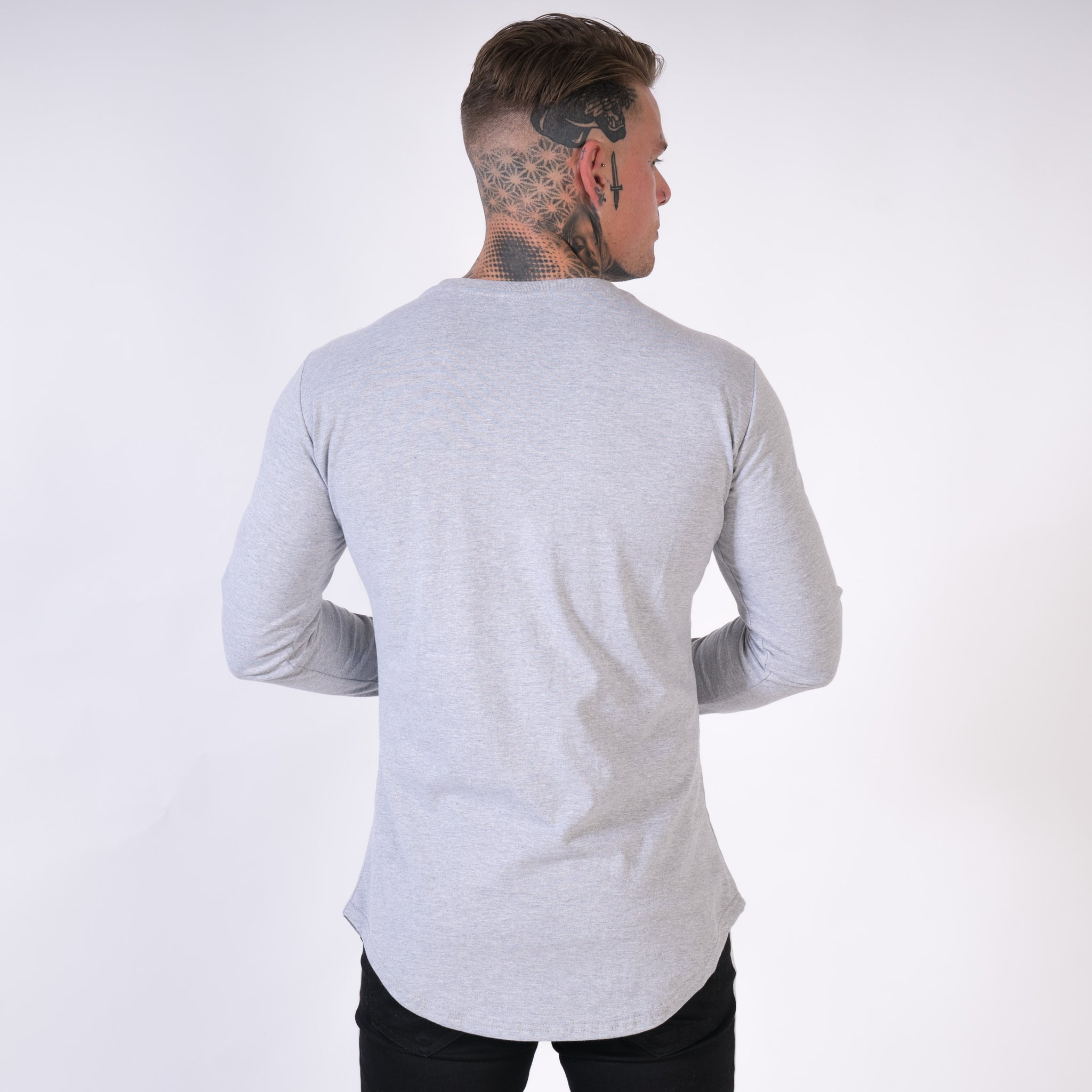 samurai long sleeve longline top