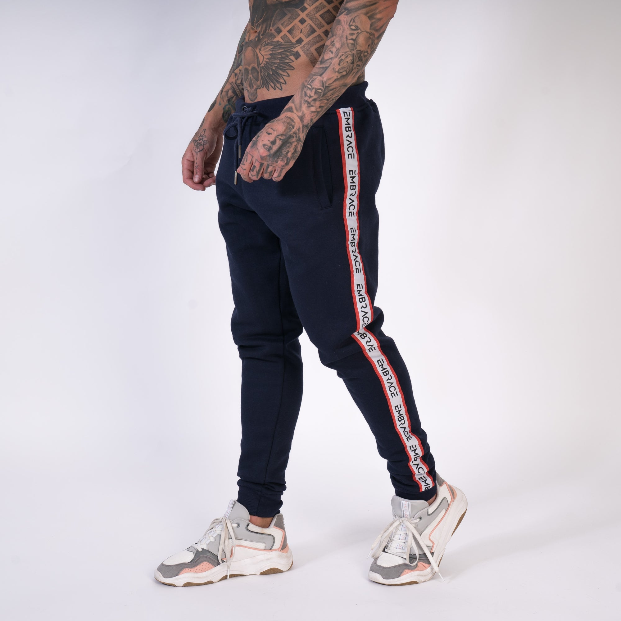 Signature Tape Joggers - Navy