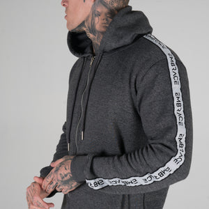 Signature Tape Tracksuit - Charcoal