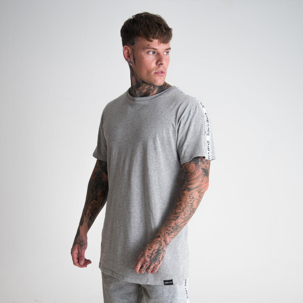 Signature Tape T-Shirt - Grey Marl
