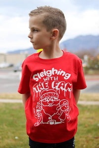 Sleighing With The Fam Kids Tee