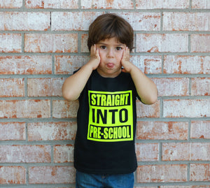 Straight Into Pre School Childrens Back to School Tee