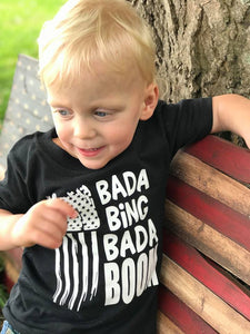 Bada Bing Bada Boom Kids Black Tees