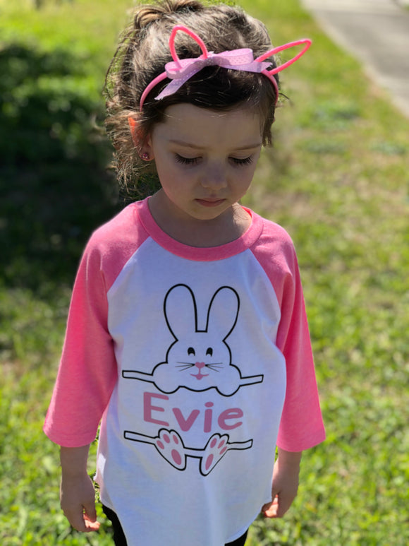 Personalized Kids Easter Bunny Shirt
