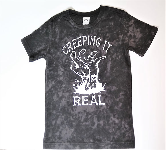 Creeping It Real Kids Halloween Vintage Tee