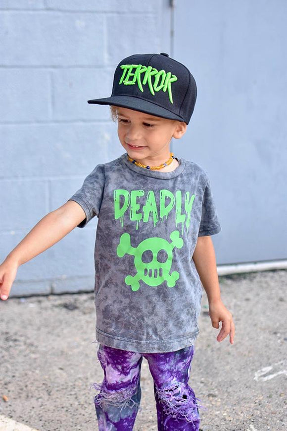 Kids Halloween Silicon Wash Tee