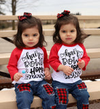 Hair Bows and Home Runs Kids Raglan