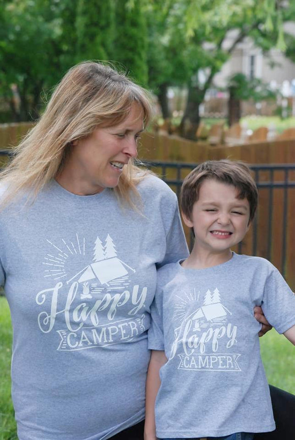 Happy Camper Family Vacation Tees