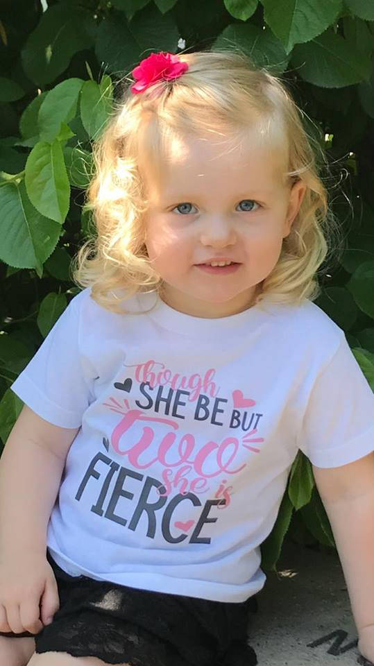 Though She Be But Two, She is Fierce Birthday Shirt