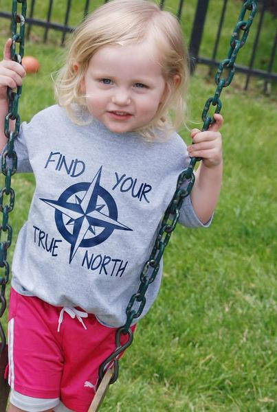 Find Your True North Kids Nautical Tee