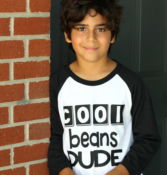 Cool Beans Dude Youth Raglan