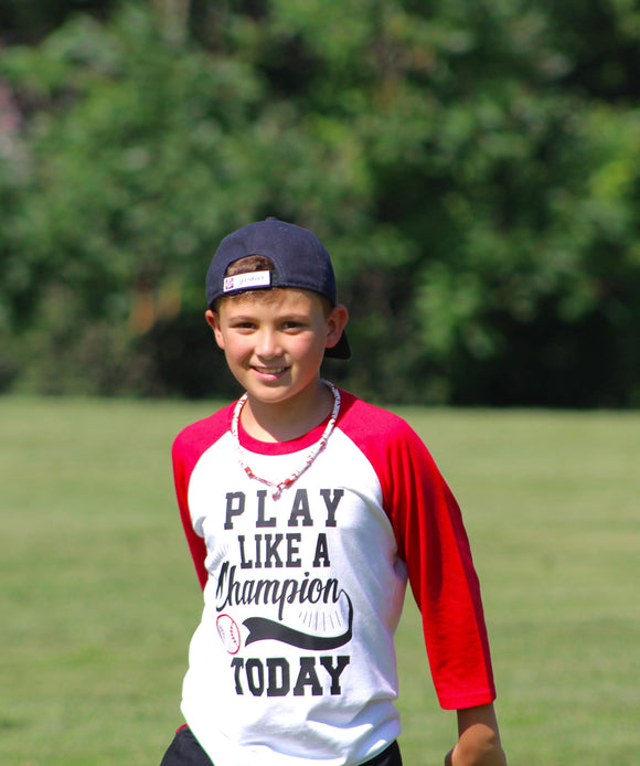 Play Like a Champion Baseball Raglan