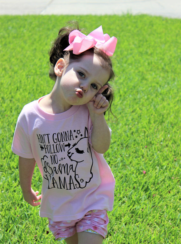 Llama Themed Toddler Tee