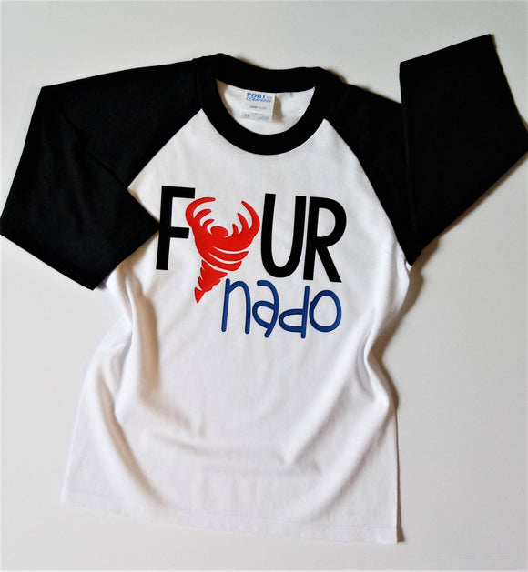 Fournado Boys Birthday Raglan