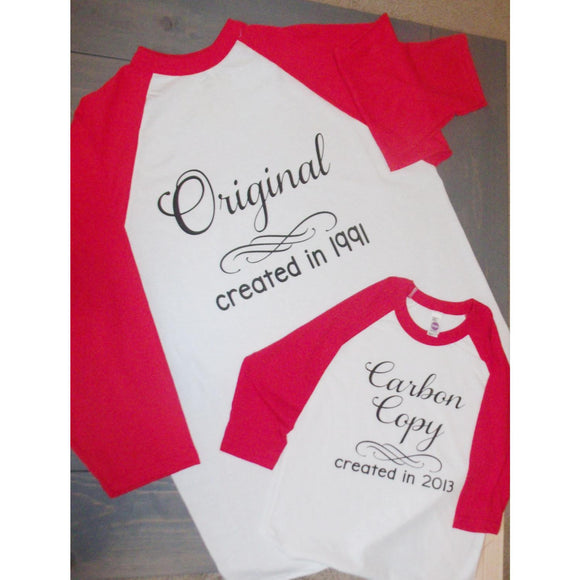 Original and Carbon Copy Mommy and Me Shirt Set