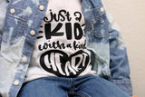 Just a Kid With a Kind Heart Raglan Kids Tee