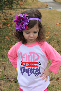 Kind is the New Pretty Kids Raglan