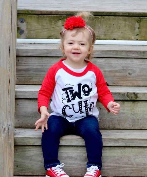 Two Cute Girls Birthday Raglan