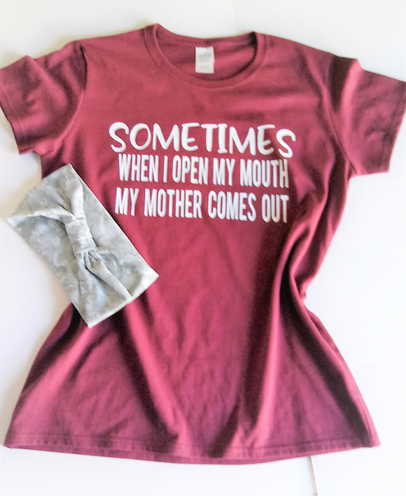 Sometime when I open my mouth ladies tee