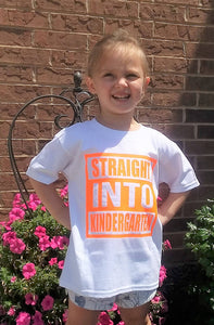Straight Into Kindergarten Childrens Back to School Tee