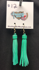 L&B leather Tassel Earrings