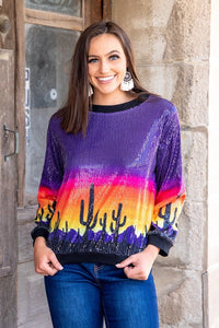 L&B Sequin Long Sleeve Top