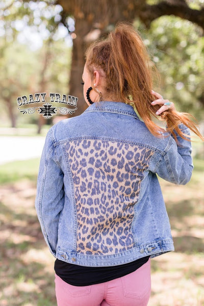 Crazy Train As Is Jacket Denim & Leopard