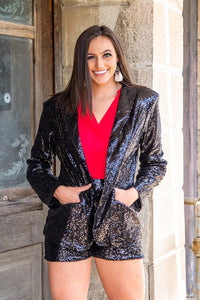 L&B Sequin Blazer Several Colors To Choose From