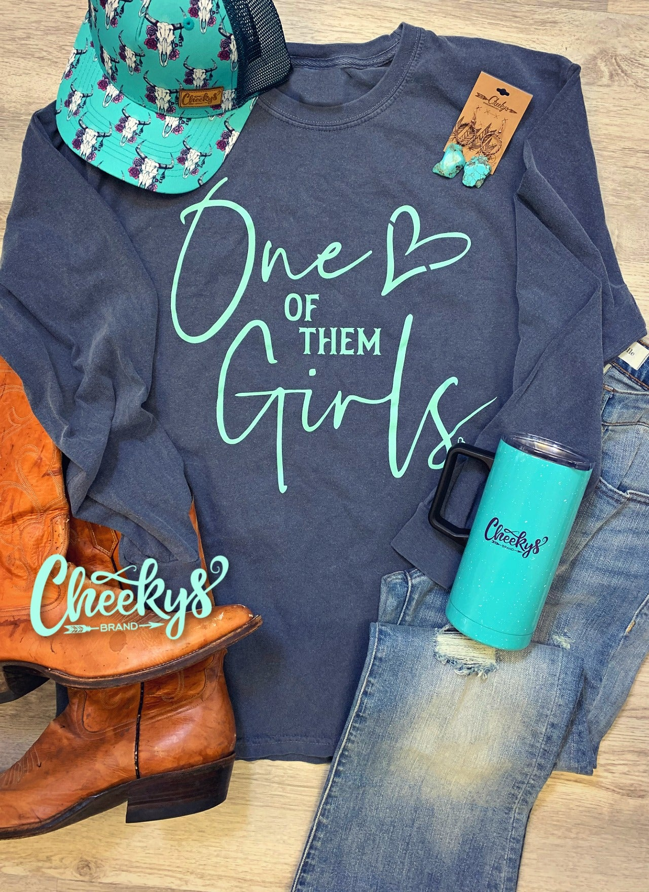 Cheekys Long Sleeve One of Them Girls Tee Unisex Fit