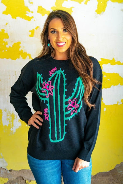 L&B Cactus Long Sleeve Sweater several colors to choose from