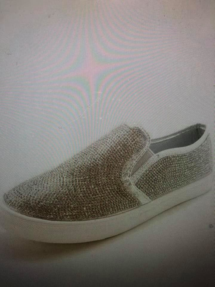 Rhinestone Slip on Sneakers
