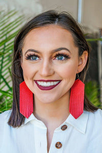 L&B leather Fringe Earrings