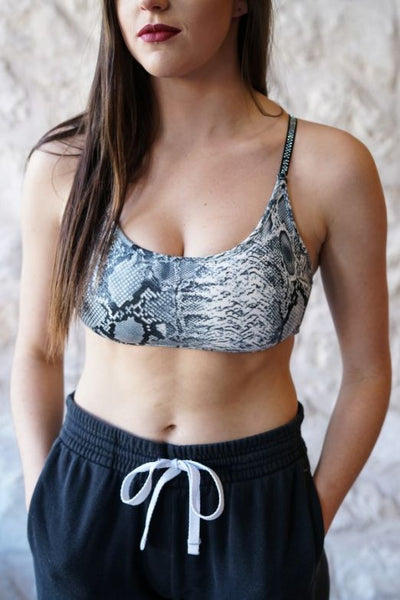 L&B Strappy Bralette, Work Out Top With Silver stones on the straps (Several colors to choose from)