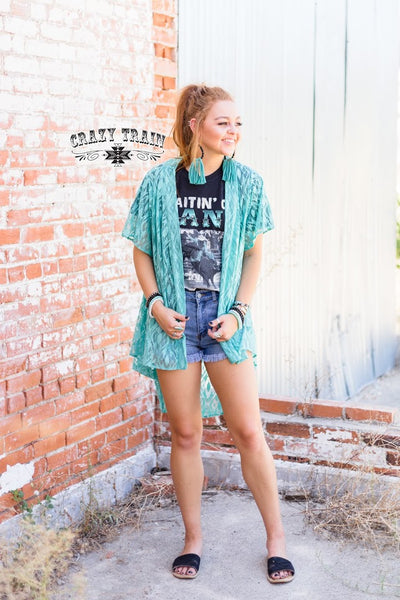 "Crazy Train ""Albuquerque"" Short Kimono Aztec Design in the Lace Several Colors To Choose From One Size"