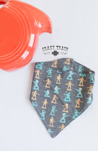 Crazy Train Cowboys & Indians Bib, Snaps On, Looks Like A Bandana