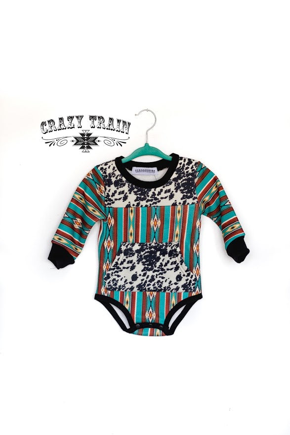Crazy Train CATTLE BABY ONESIE