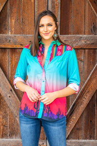 L&B Long Sleeve Western Top