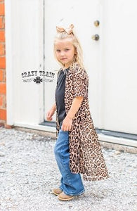 "Crazy Train Kids ""Dixie Duster"" leopard Duster"