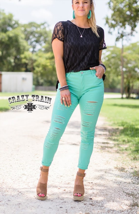 Crazy Train GO 2 SKINNIES *** TURQUOISE