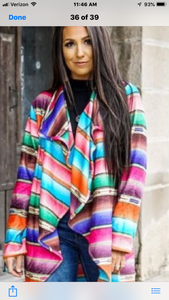 L&B Serape Jacket with Large Lapel