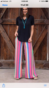 L&B Wide Leg Plazzo Pants Serape