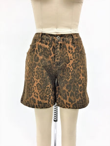 L&B Leopard Shorts (mid thigh length) size up
