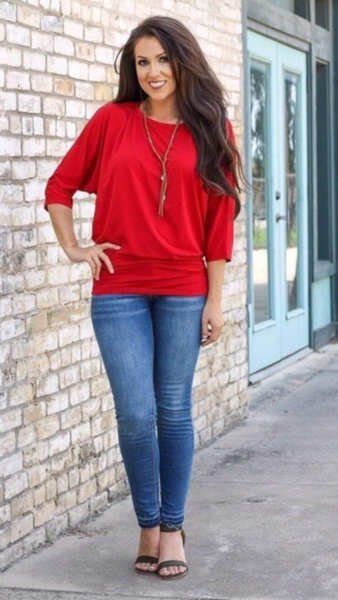 L&B Dolman Top Several Colors To Choose From