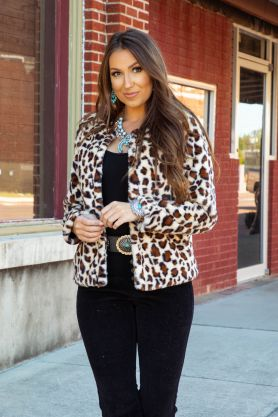 L&B Short Faux Fur Jacket Several Colors To Choose From