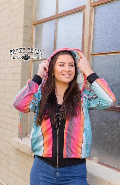Crazy Train RAD TAD HOODED JACKET ** BLACK / SERAPE