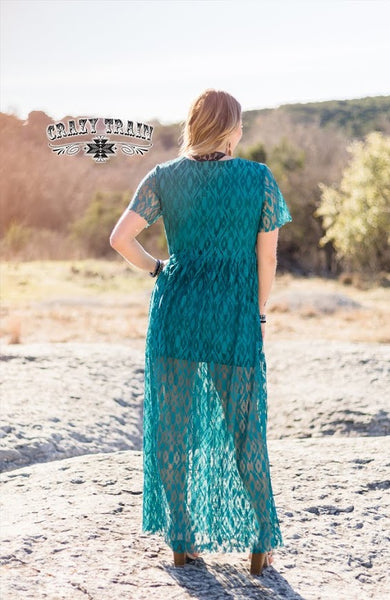 Crazy Train TEAL RAYANNE MAXI DRESS ** TEAL