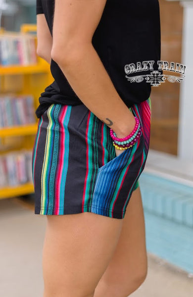 Crazy Train SERAPE SUMMER SHORTS