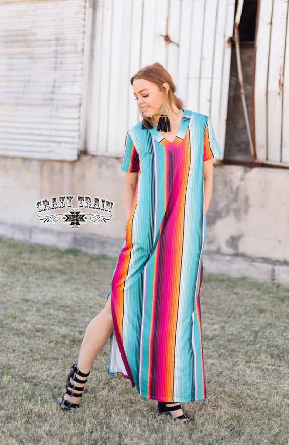 Crazy Train SUNDAY SUNRISE MAXI ** SERAPE Dress