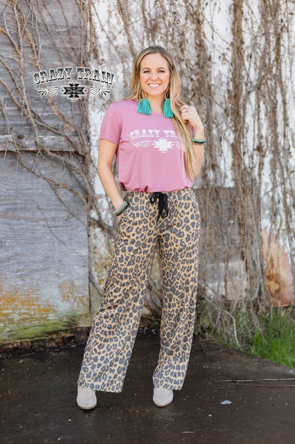 Crazy Train THE CASUAL PANT ** LEOPARD